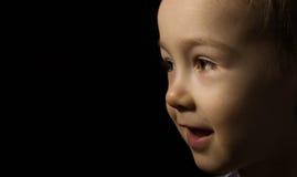 Fine felice del fronte del bambino in su Fotografia Stock