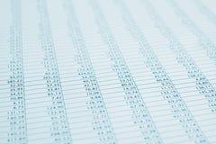 Fine finanziaria di rapporto di dati di affari in su. Modificato. Immagine Stock