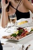 Fine Fish Dinner Stock Images