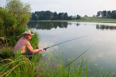 Fine fishing Stock Photography