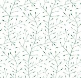 Fine Floral Ornament Seamless Pattern Background. Delicate intricate grass floral illustration. Vector EPS8 Stock Photography