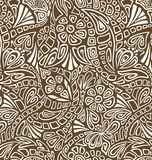 Fine floral seamless. Fine white floral seamless pattern on the brown background vector illustration