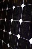 Fine fotovoltaica del comitato solare in su Immagini Stock Libere da Diritti