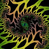 Fine fractal rendering. Fine and detailed rendering of an abstract fractal Stock Photos