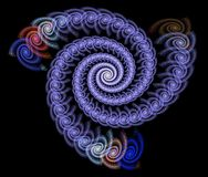 Fine fractal rendering. Fine and detailed rendering of an abstract spiral fractal Stock Photos