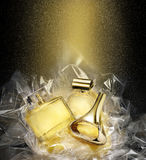 Fine fragrances. In Christmas fantasy environment. Stock Image