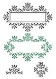 Fine frames vector. Set of elegant design elements Stock Image