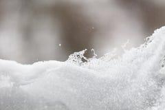 Fine fresca del fondo della neve su Fotografie Stock Libere da Diritti