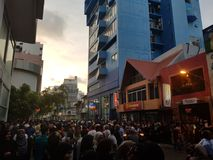 A fine Friday in Malé Maldives. People gathered to celebrate Friday stock photo