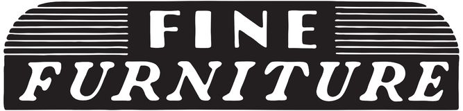 Fine Furniture 3. Retro Ad Art Banner vector illustration
