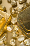 Fine gold royalty free stock image