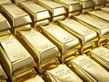 Fine Gold Bars. 3d render Stock Image