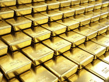 Fine Gold Bars. 3d rendered illustration Royalty Free Stock Image