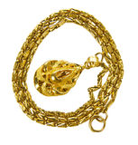 Fine Gold Chain Royalty Free Stock Photo