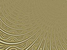 Fine gold modern abstract fractal art. Background illustration with a distorted detailed pattern resembing a filigree. Creative gr Stock Photography