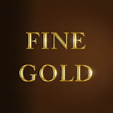 Fine gold text Stock Photo