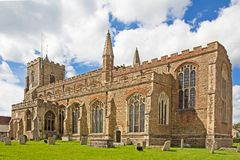 Stone church in Essex. Fine gothic rural stone church in Essex England Royalty Free Stock Photos