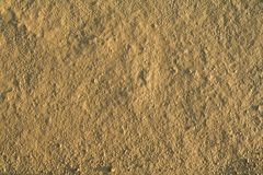 Fine grained dry mud. Fine grained dried mud background - in sunset lights royalty free stock image