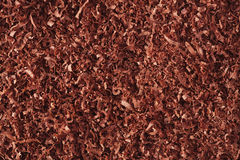 Fine grated chocolate background Royalty Free Stock Image