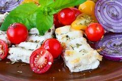 Fine greca della prima colazione su fotografia stock