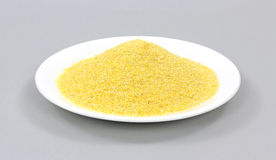 Fine Ground Corn Meal Gray Background Royalty Free Stock Photos