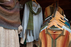 Fine Handmade Linen Clothing at Fashion Boutique Stock Images