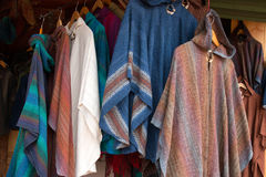 Fine Handmade Linen Clothing at Fashion Boutique Stock Photo
