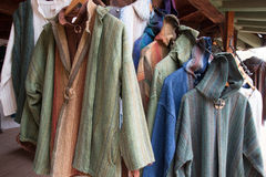 Fine Handmade Linen Clothing at Fashion Boutique Stock Photography