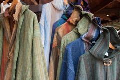 Fine Handmade Linen Clothing at Fashion Boutique Royalty Free Stock Photography
