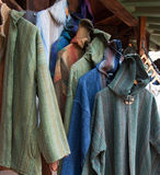 Fine Handmade Linen Clothing at Fashion Boutique Stock Image