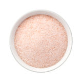 Fine Himalayan Pink Salt in a Ceramic Bowl Stock Image