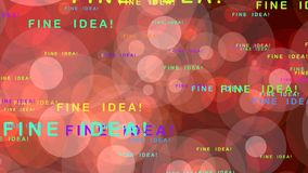 Fine idea! - motion graphics Royalty Free Stock Image