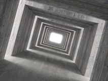 Fine image 3d of concrete tunnel and lateral light Royalty Free Stock Image