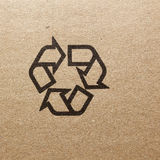 Fine image close-up of grunge black fragile symbol on cardboard Royalty Free Stock Photo