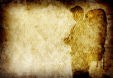 Fine image of old grunge paper. Background silhlouette of traveller Stock Photo
