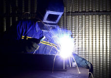 Fine image of welder of work 01 Royalty Free Stock Image