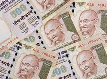 Fine indiana di valuta in su Fotografie Stock Libere da Diritti