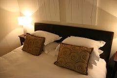 Fine interna africana moderna della camera da letto in su Fotografia Stock Libera da Diritti