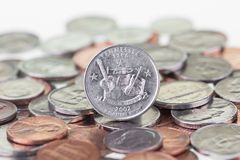 Fine inversa di estremo di Tennessee State Quarter su fotografia stock