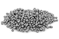 Iodine. 99.8% fine iodine isolated on white background royalty free stock photo