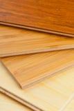 Fine laminata della pavimentazione del bambù su Immagine Stock