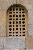 Fine lattice window in pre-romanesque church Stock Image