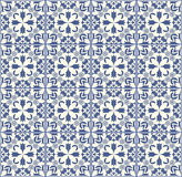 Fine low contrasting gray patterns on white background, filigree geometric lace ornament, tile with repeatable ornate elements in. Fine blue patterns on white Royalty Free Stock Photo