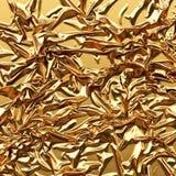 Fine lussuosa del fondo del raso dell'oro su Immagini Stock Libere da Diritti