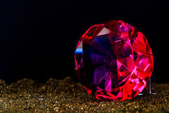Fine luxury rose diamond. Jewelry decoration on the dark background. stock photography