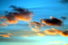 Fine macro photo of flying pink clouds royalty free stock photography