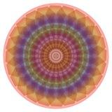 Fine mandala in rainbow pastel colors. Circle symmetric mandala for meditation and spiritual exercise Royalty Free Stock Image