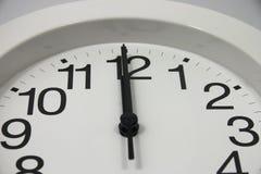 Fine Midnight dell'orologio in su Fotografia Stock