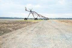 Fine mobile di irrigazione del campo Fotografia Stock