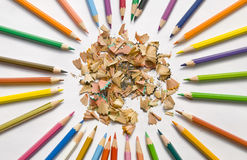 Fine-moulded And New Pencils Stock Image